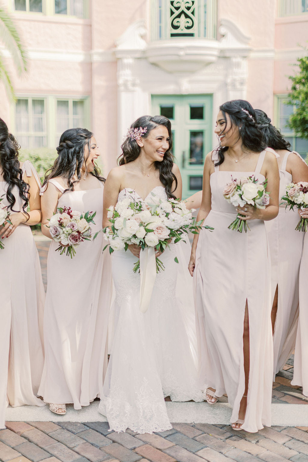 bella belle real bride and bridesmaids