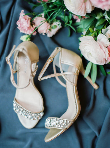Bella Belle Wedding Shoes Filipa Champagne Glamour Vintage Rhinestone Crystal Romantic Fairy Tale Shoes
