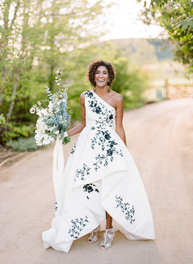 Cherry Blossom Inspired Monique Lhuillier Wedding Gown