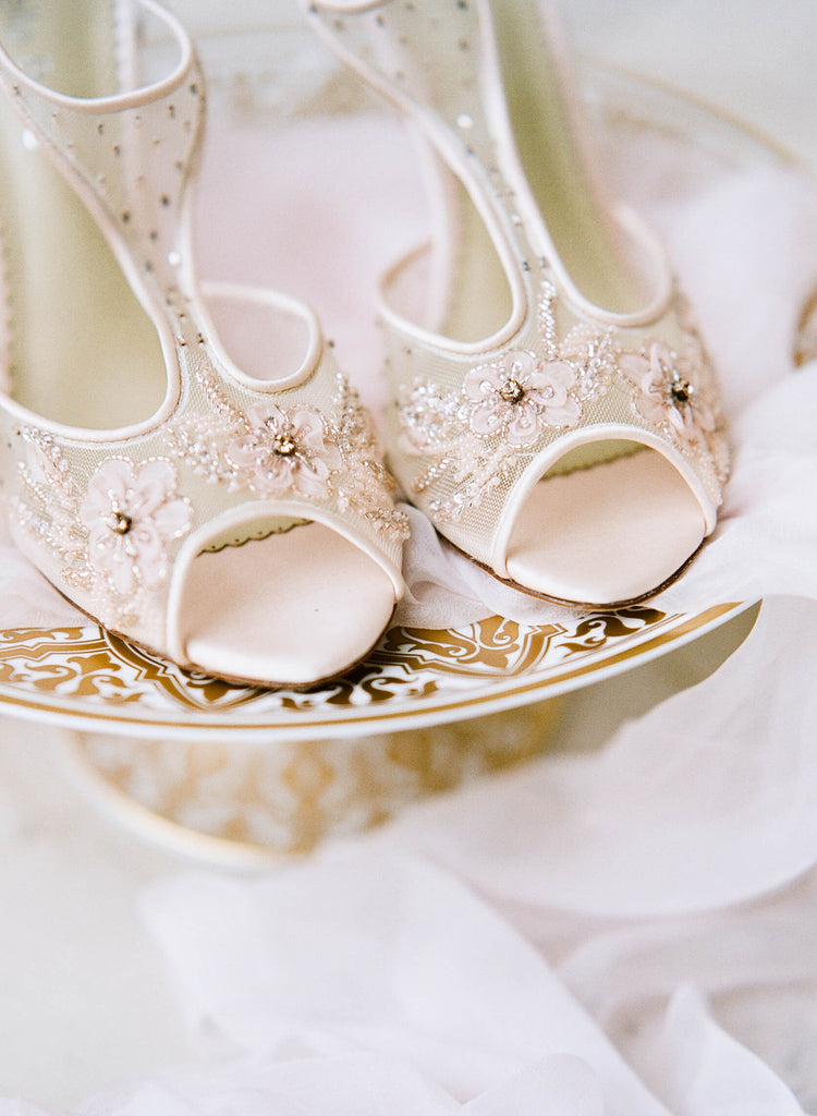 Blush pink wedding heels paloma