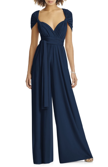 bella belle nordstrom black jumpsuit wedding guest