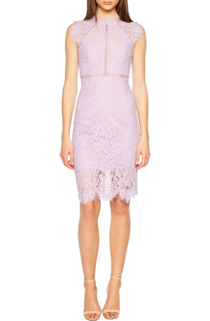 nordstrom bella belle wedding guest lilac dress