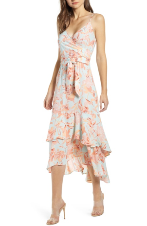 bella belle nordstrom floral wedding guest summer dress