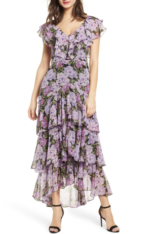 nordstrom bella belle floral wedding guest dress