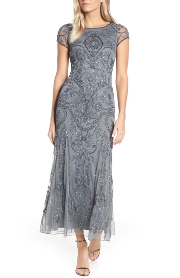 bella belle nordstrom wedding guest grey dress