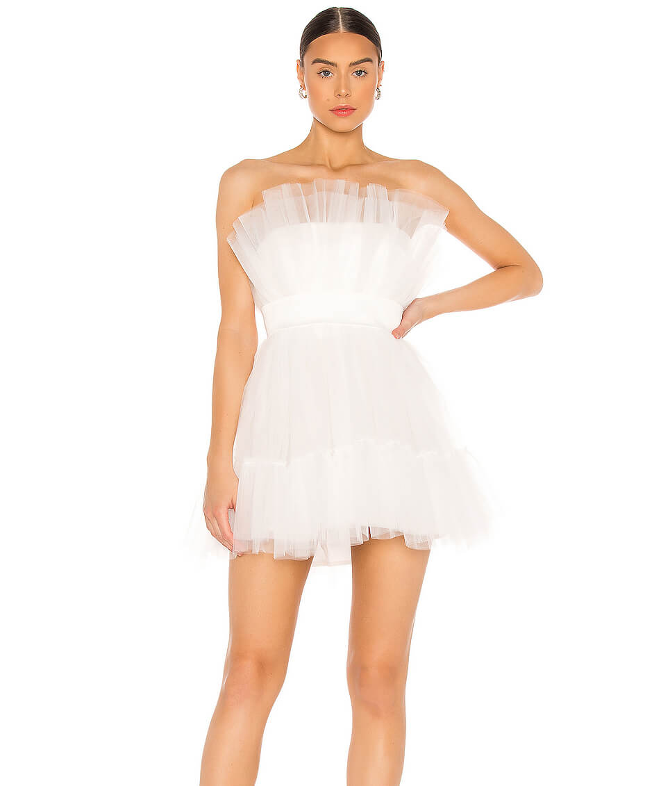 revolve little white dress fashion