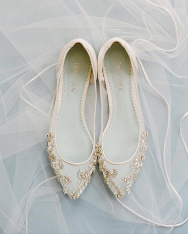 Bella belle willow white comfortable wedding flats