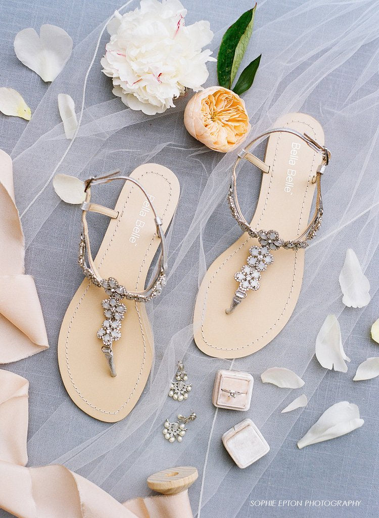 The perfect sandals for a beach or outdoor bride bella belle shoes bella belle rhea flower silver evening sandals junglespirit Gallery