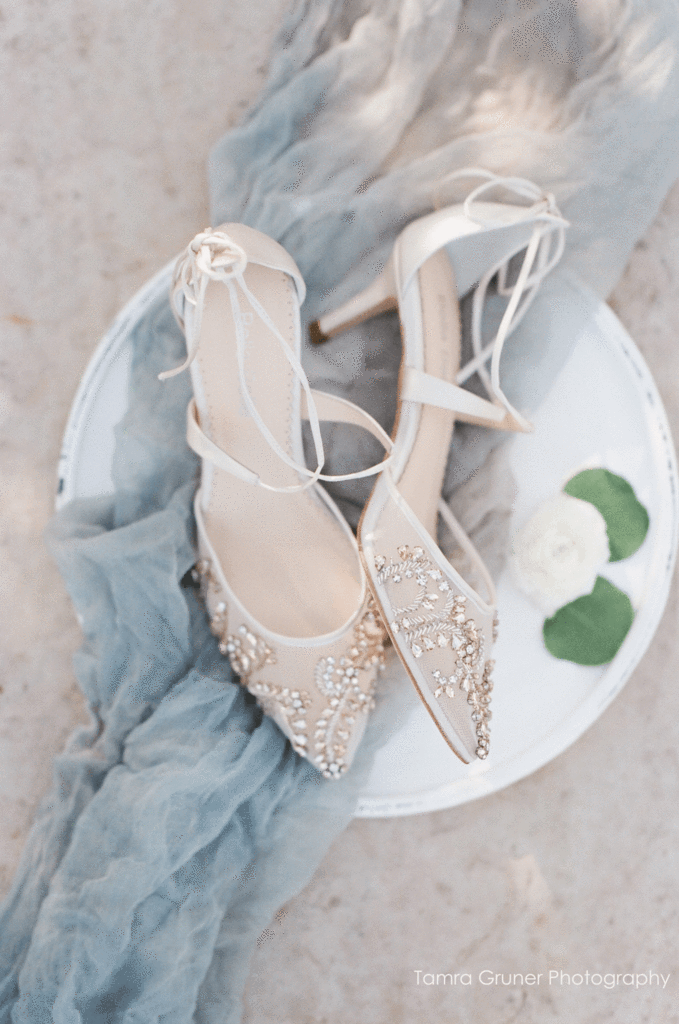 bella belle frances crystal embellished ivory kitten wedding heels