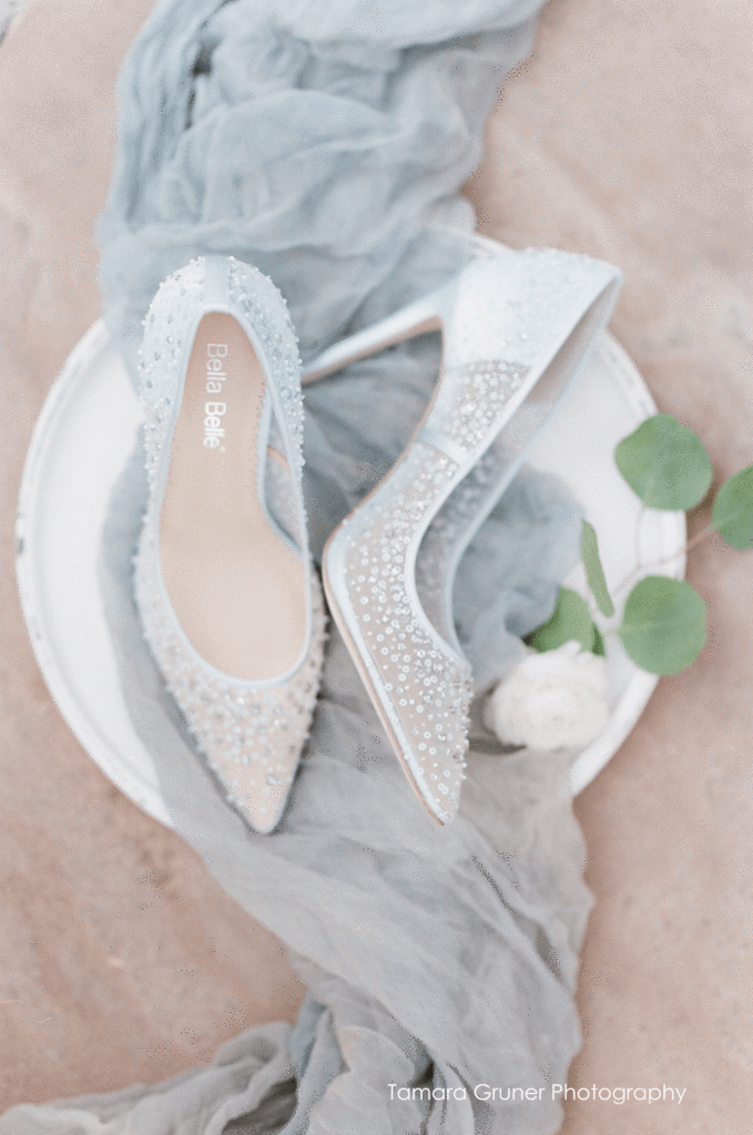 Bella Belle Elsa something blue cinderella sequin crystal wedding shoes