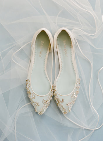 Bella Belle Willow Wedding Flat, wedding shoe, comfortable