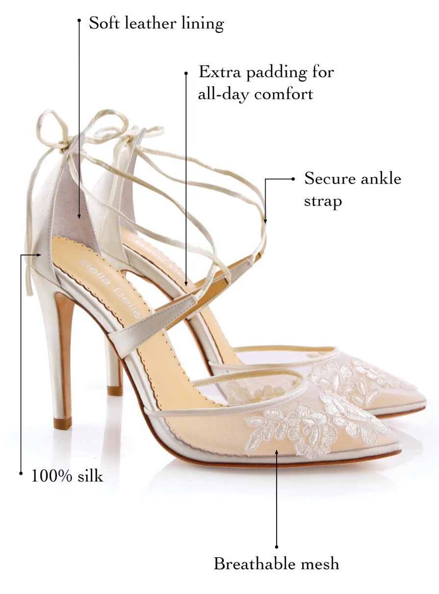 bella belle anita ivory comfortable wedding shoes