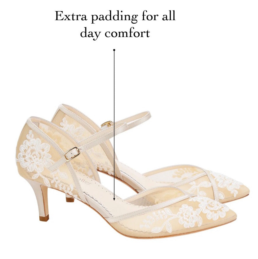 extra padding comfortable wedding shoes bella belle