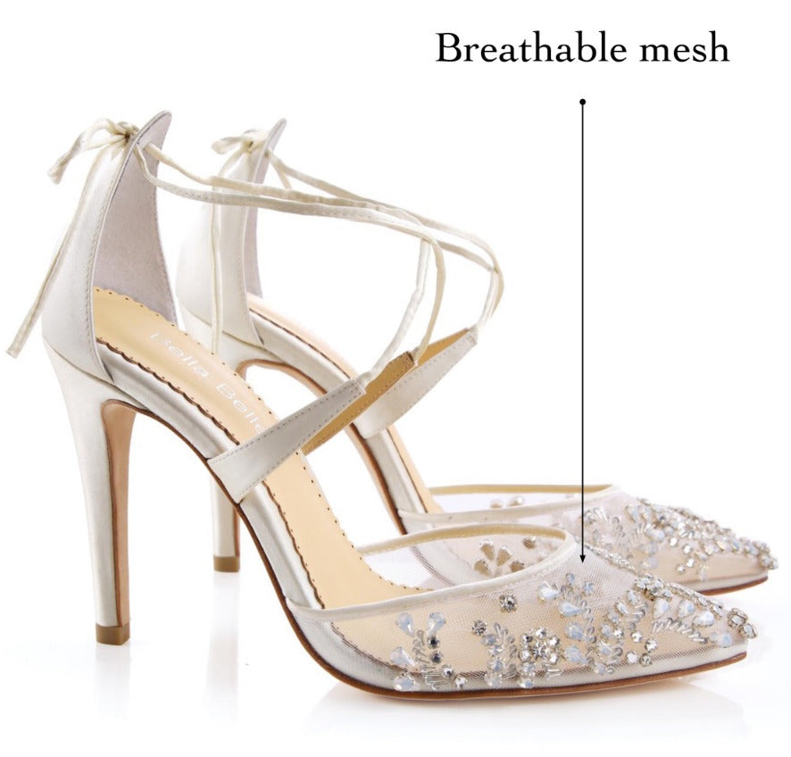 comfortable mesh upper wedding shoes