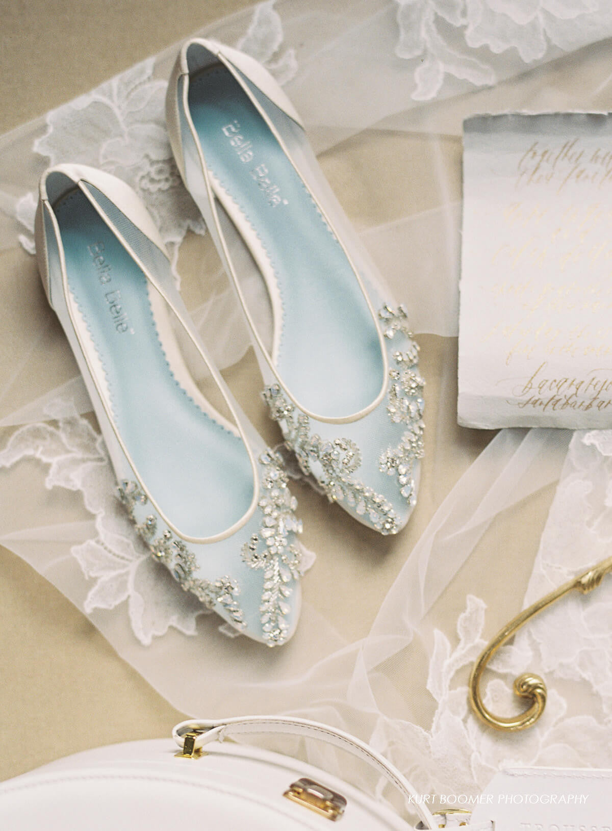 Beautiful crystal beaded comfortable wedding flats