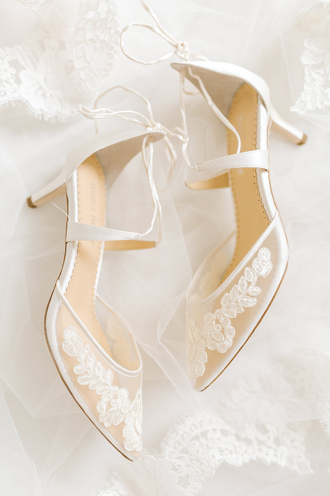 ivory lace wedding low heel