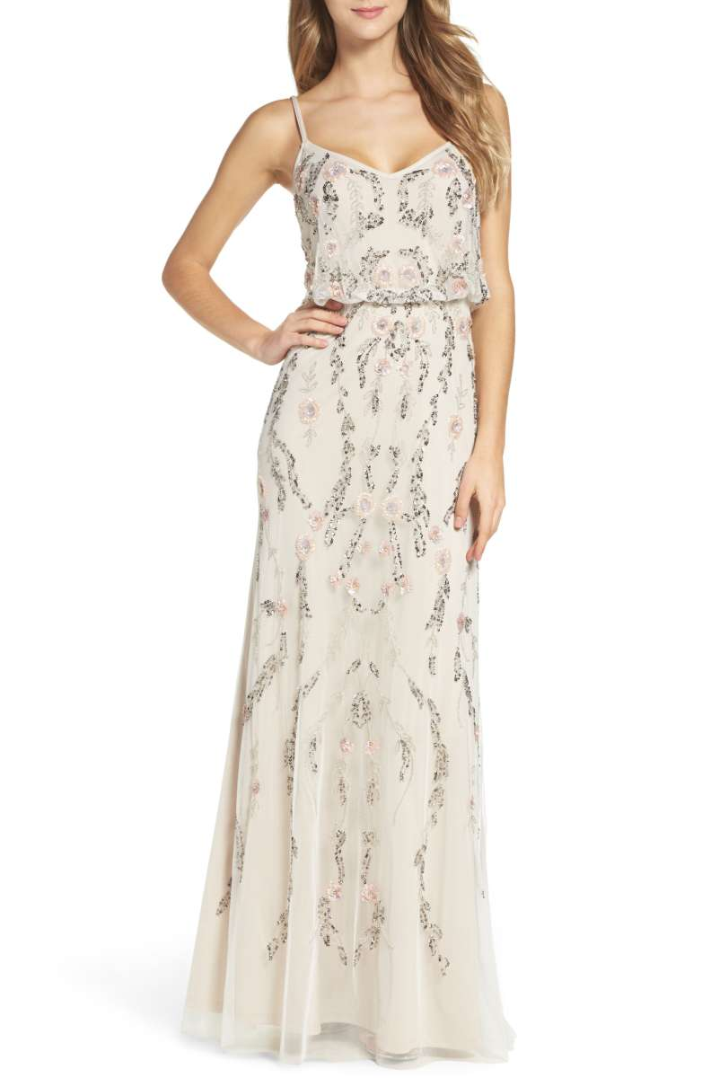 adrianna pappell maxi floral dress