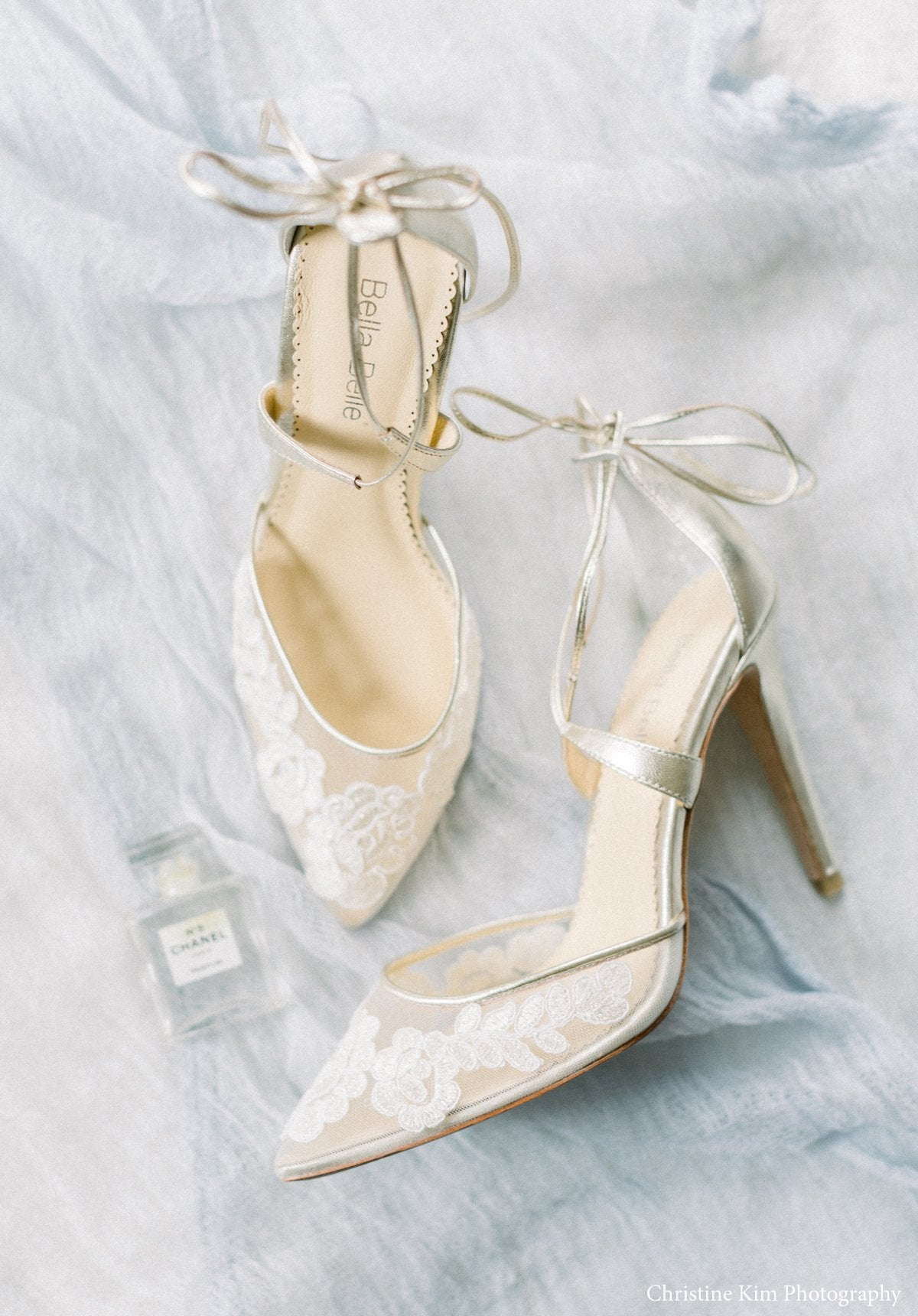 gold lace wedding heel