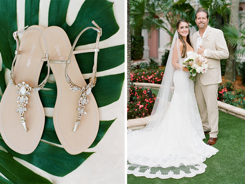 bella belle real bride review ashley in luna wedding sandals
