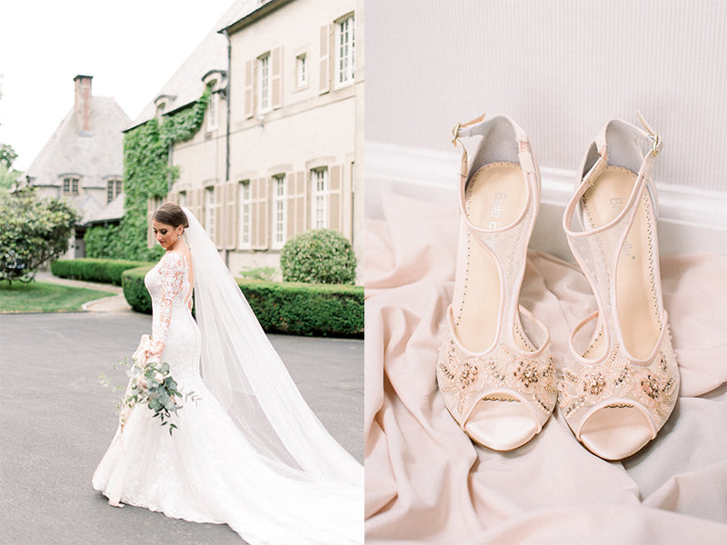 bella belle real brides martina liana wedding dress designer paloma blush wedding shoes