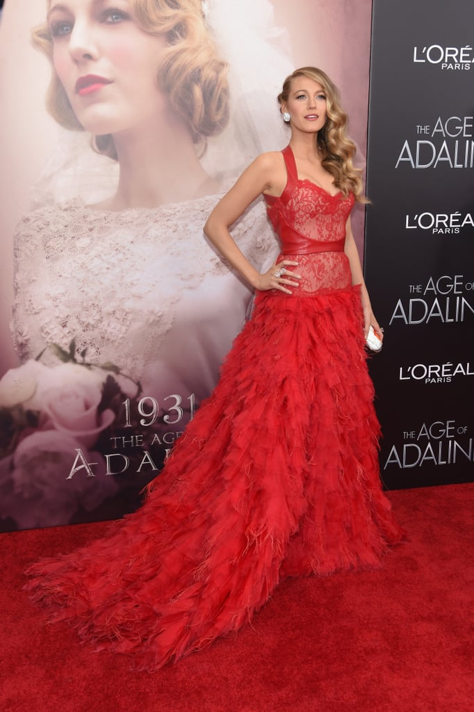 blake lively red carpet red monique lhuiller dress