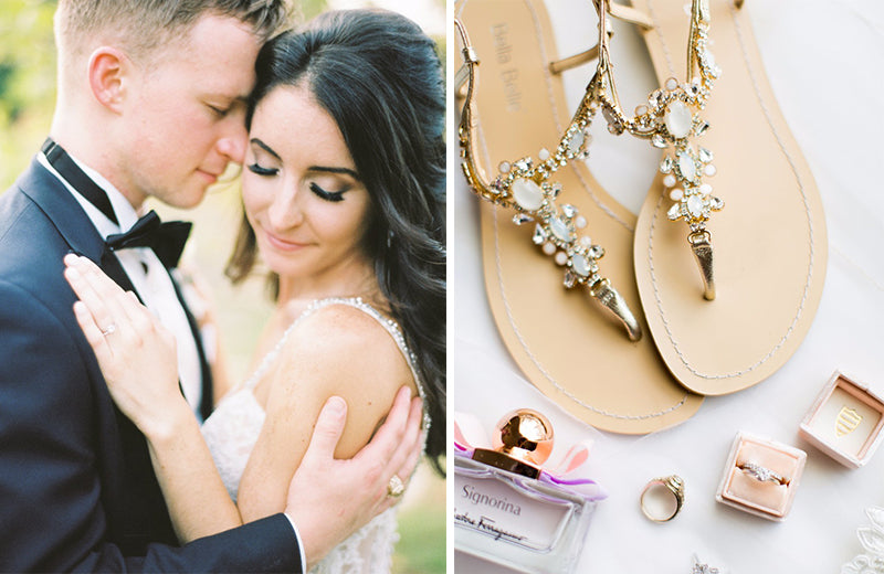 bella belle real bride brittany review in luna gold jewel wedding sandal