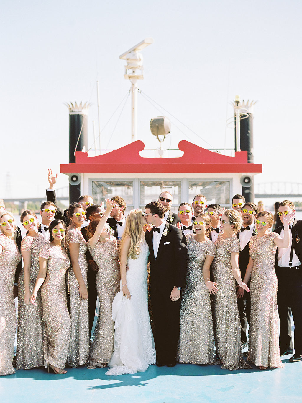 bella belle summer wedding inspirations wedding party cruise