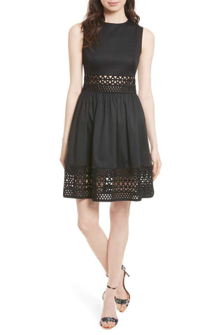 Casual outdoor wedding Ted baker black dress for guests