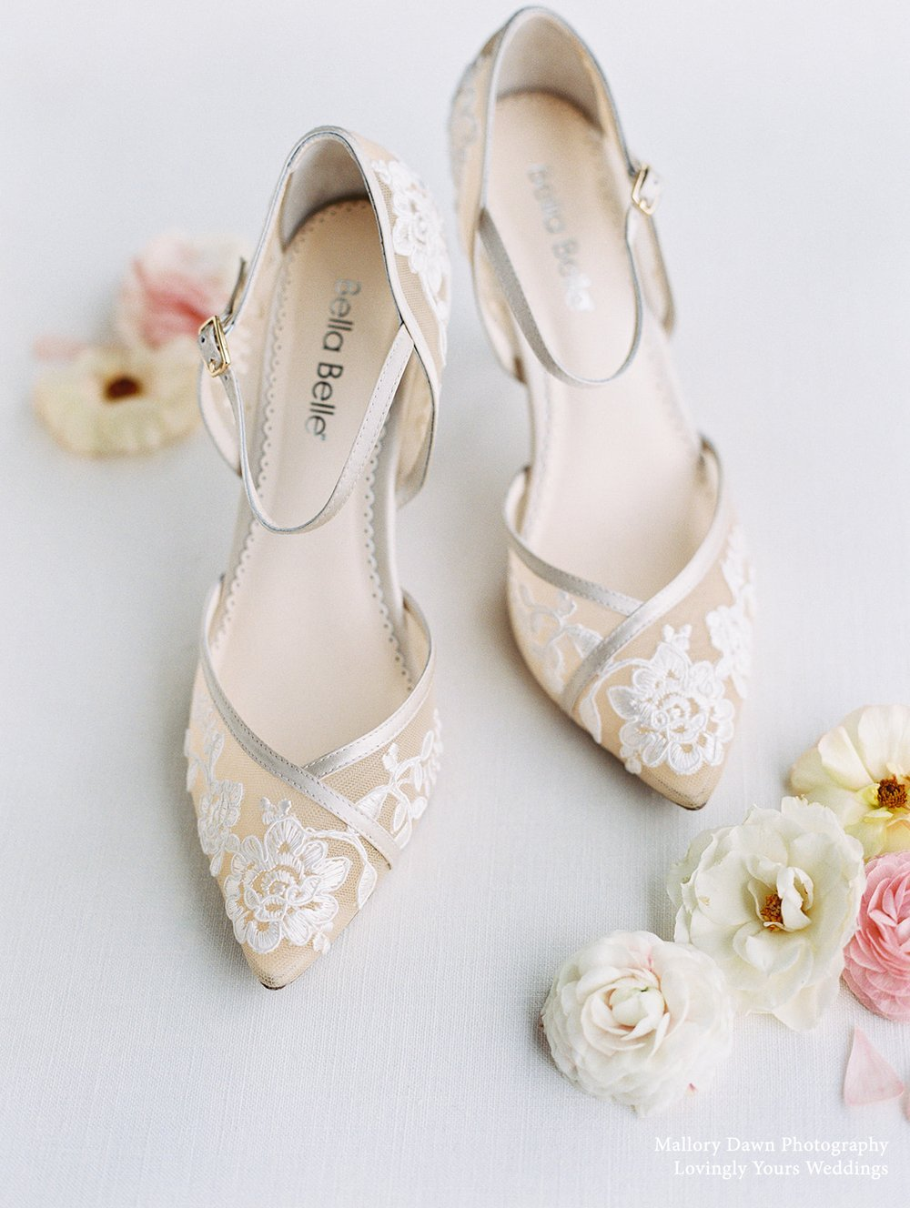 bella belle chelsea nude lace wedding block heel