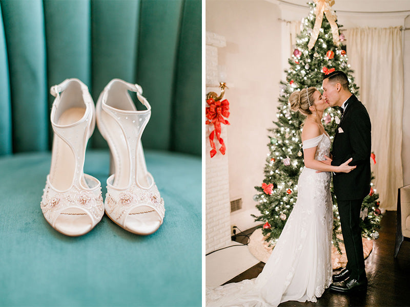 bella belle real bride reviews christin in paloma blush wedding shoe