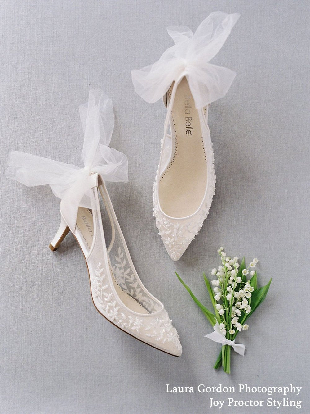 bella belle esther wedding beaded low heels