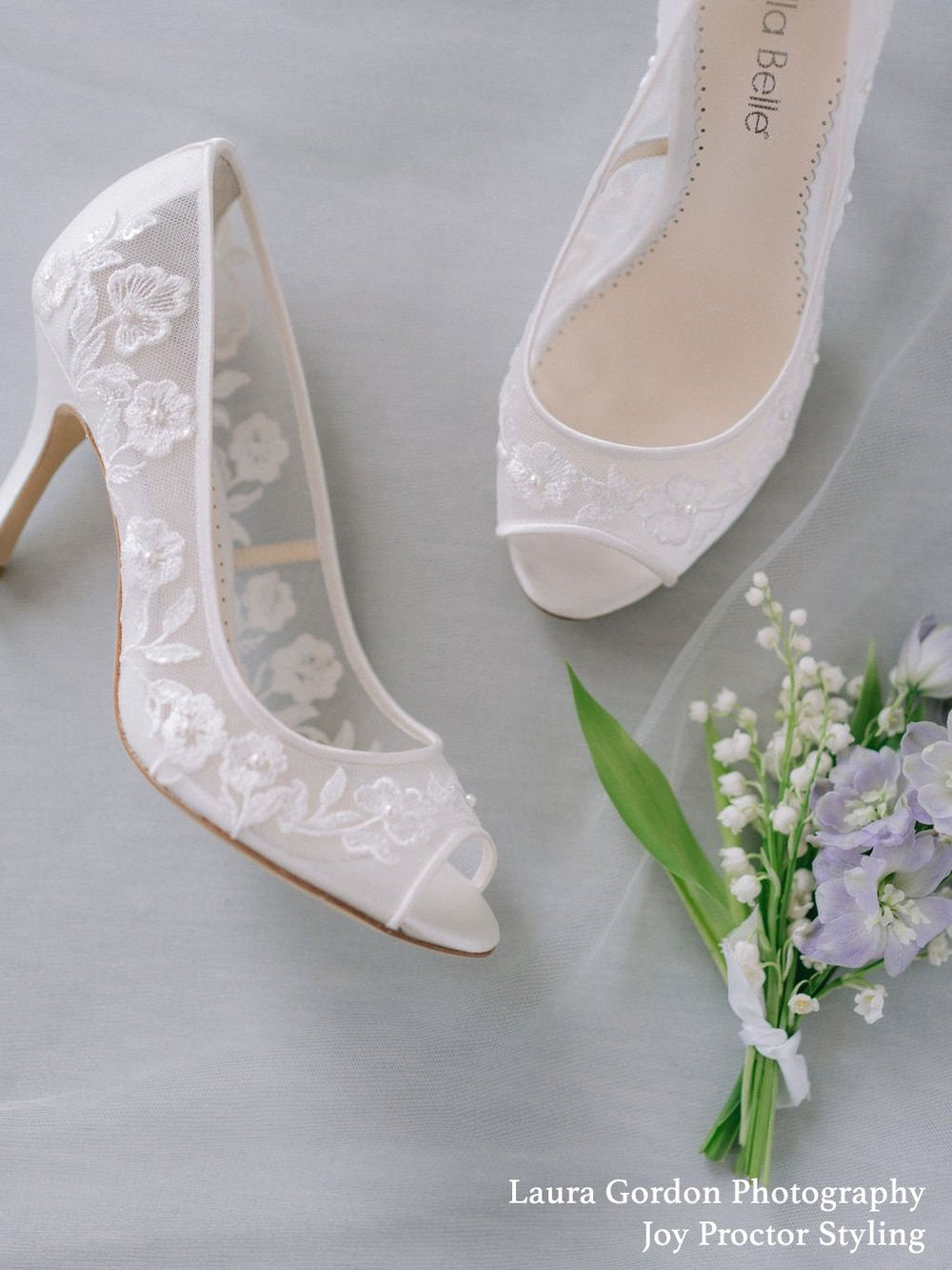 emily open toe lace wedding shoe