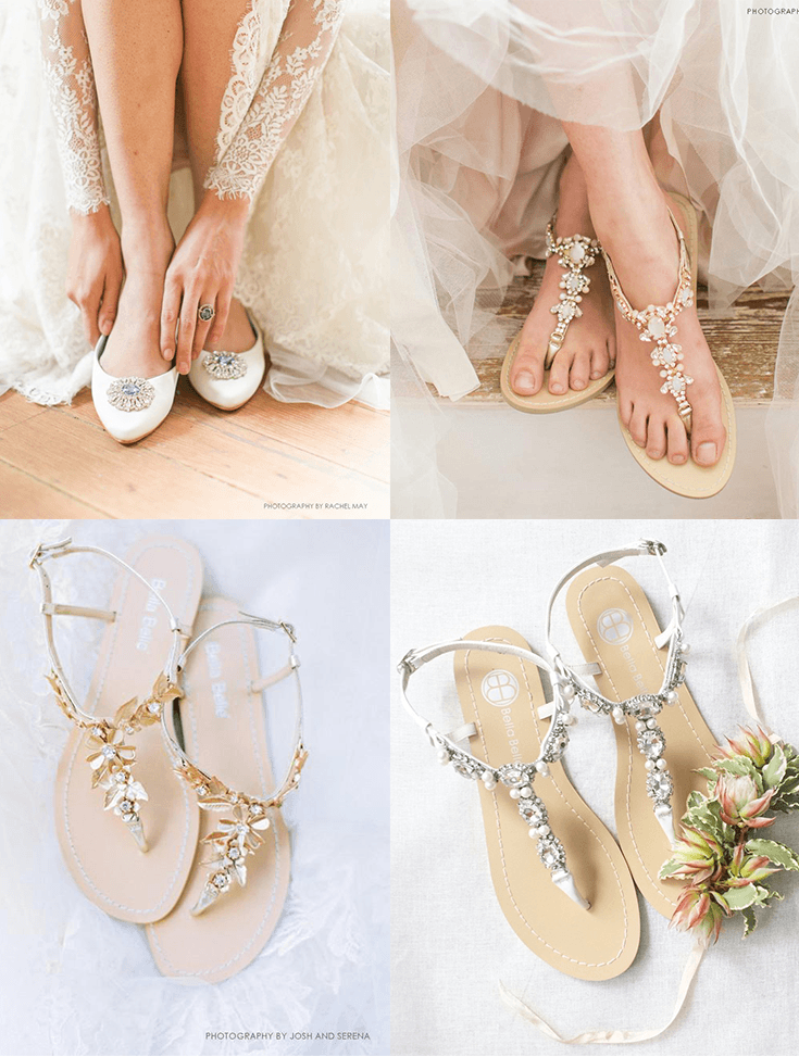 c20796c28f3d Vintage white wedding flat Jackie, comfortable embellished and jeweled wedding  sandals