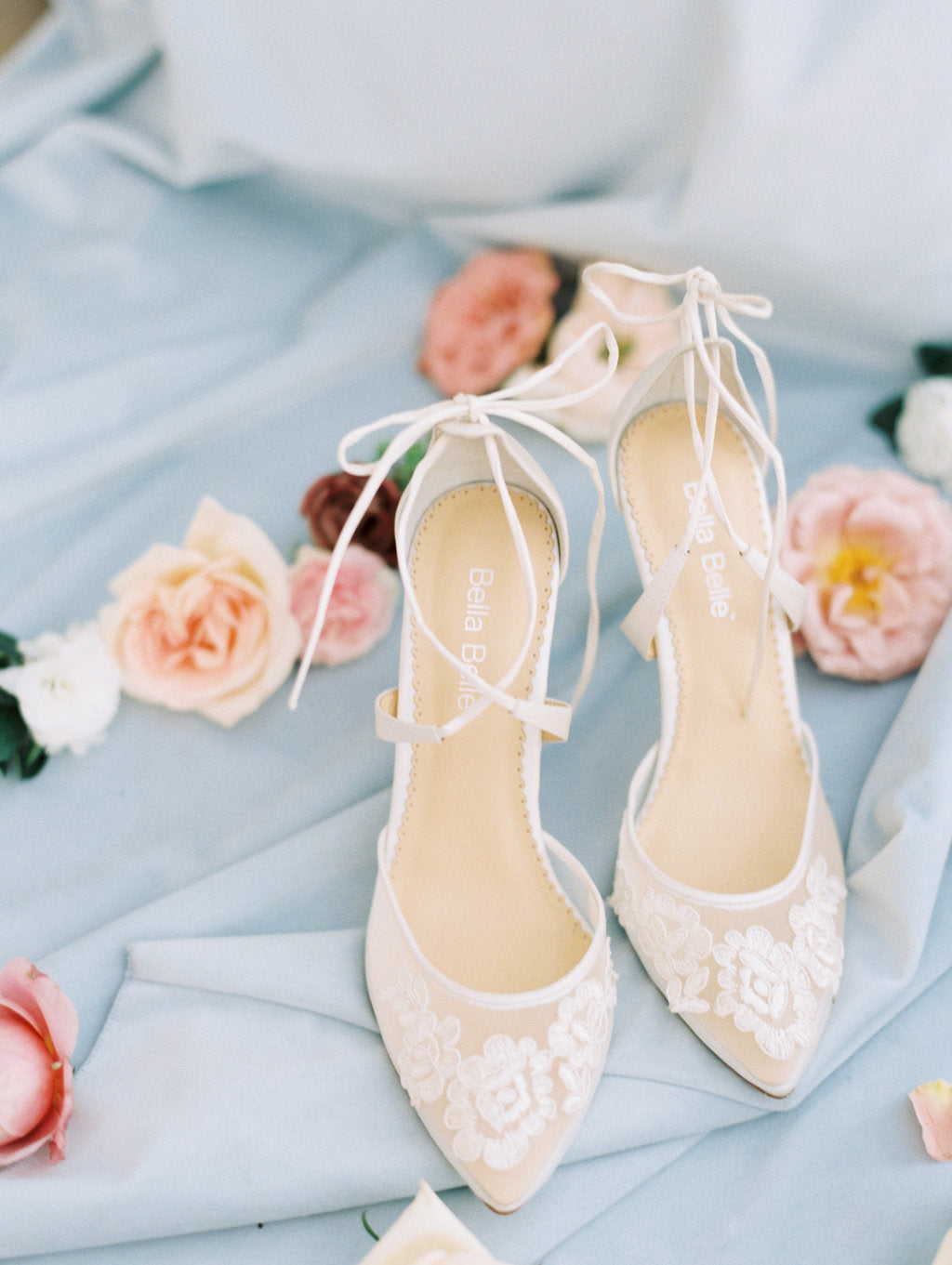 Bella belle anita ivory lace wedding shoe