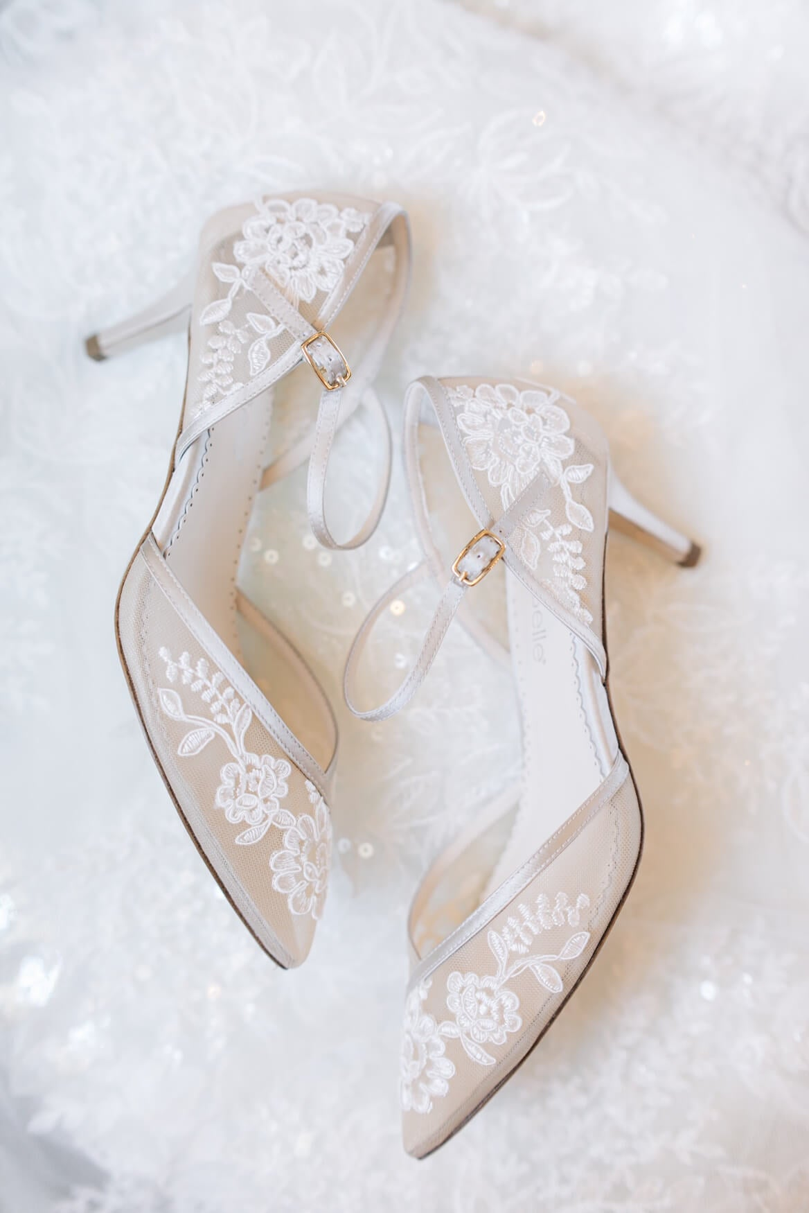 Candice Nude Lace Low Heels