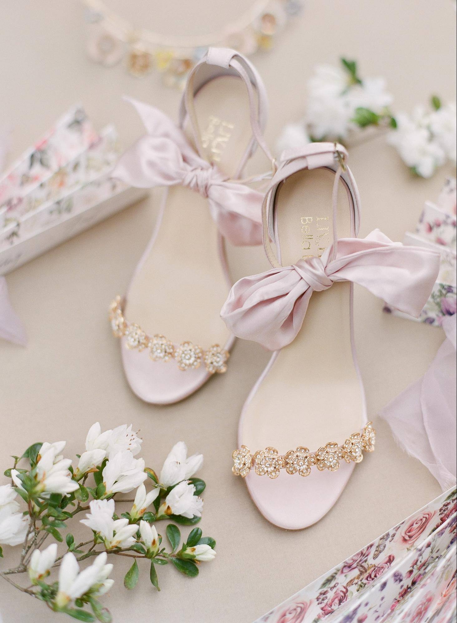 The Mariee wedding shoe.