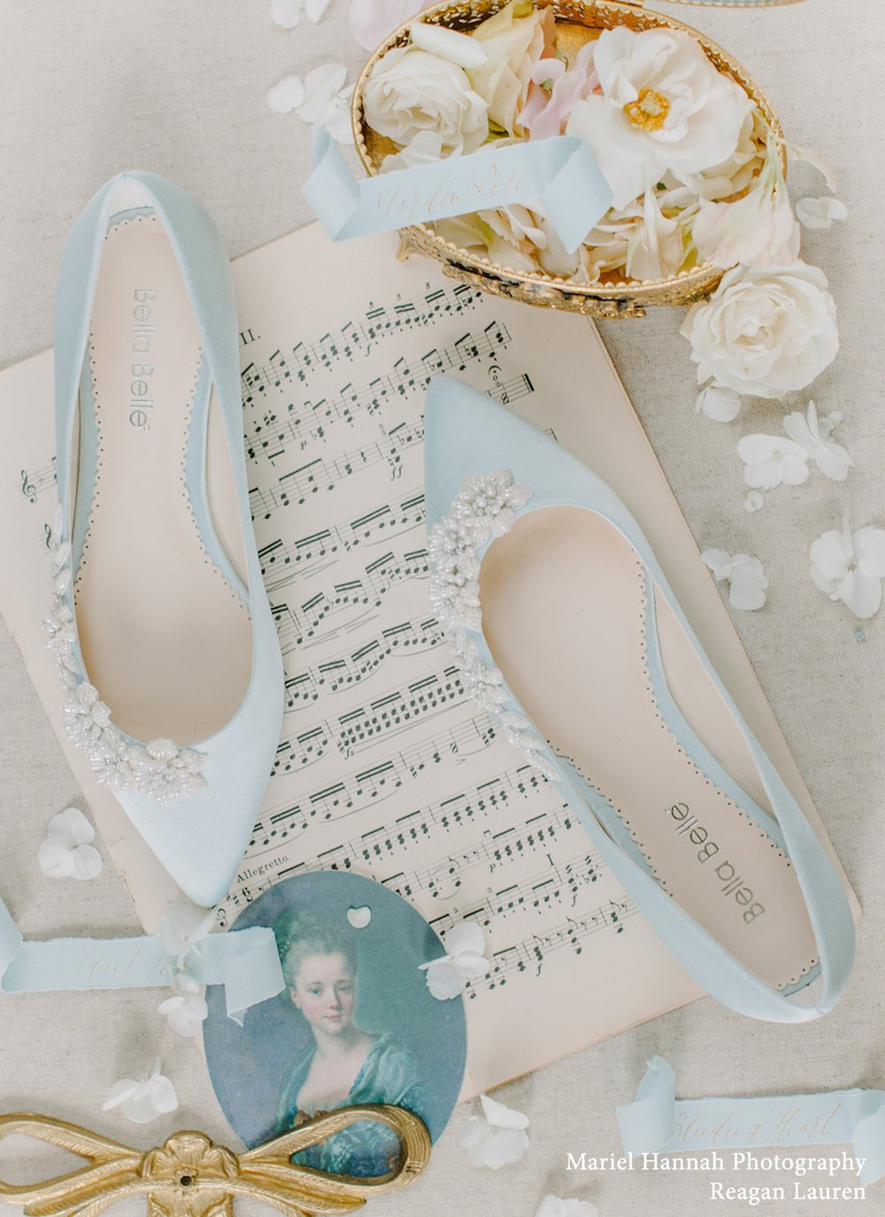 bella belle daisy blue wedding flats