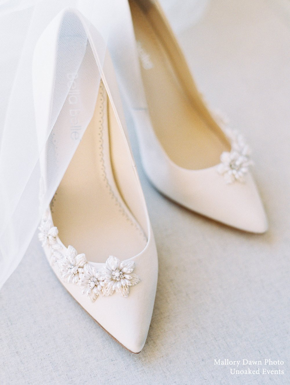 bella belle jasmine ivory beaded wedding pumps