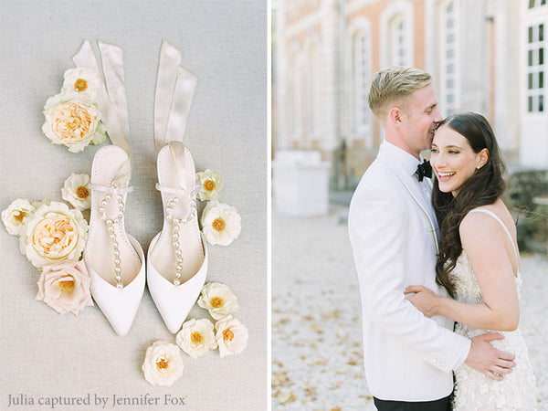 bella belle brides lucia pearls wedding shoe