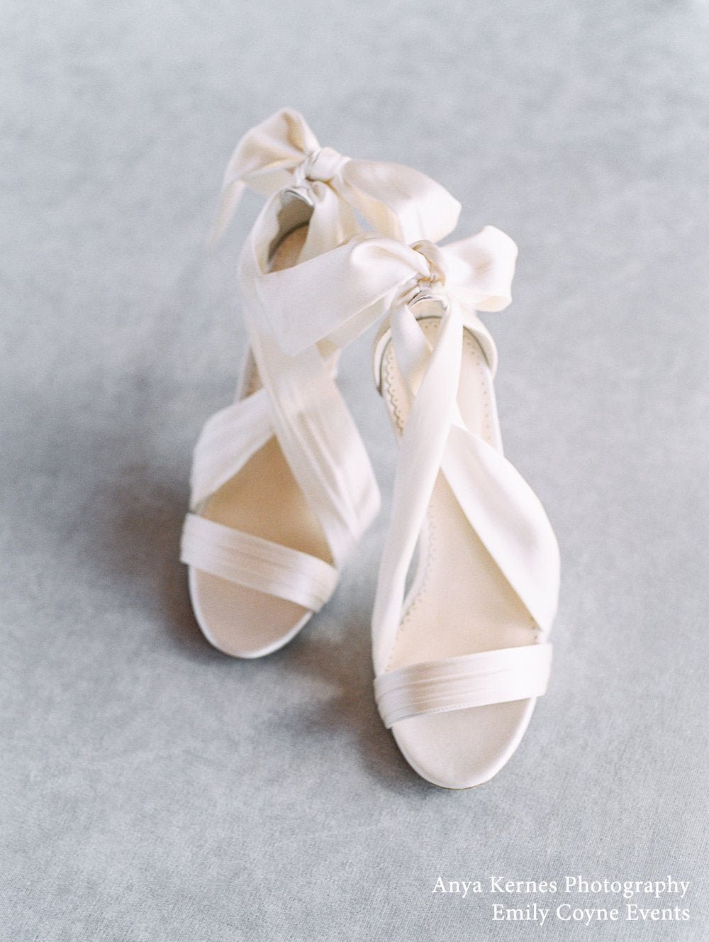 bella belle kate ivory silk ribbon wedding shoes