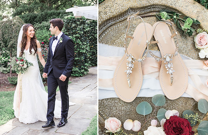 bella belle real bride kristen review in luna jewel wedding sandal