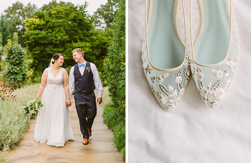 bella belle real bride mary review in allegra floral wedding flats