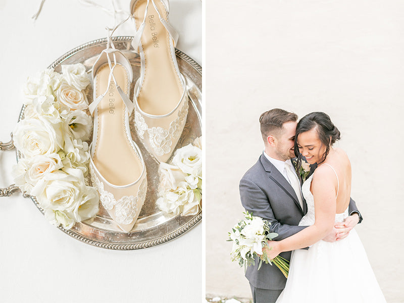 bella belle real brides review megan in alicia lace wedding flat