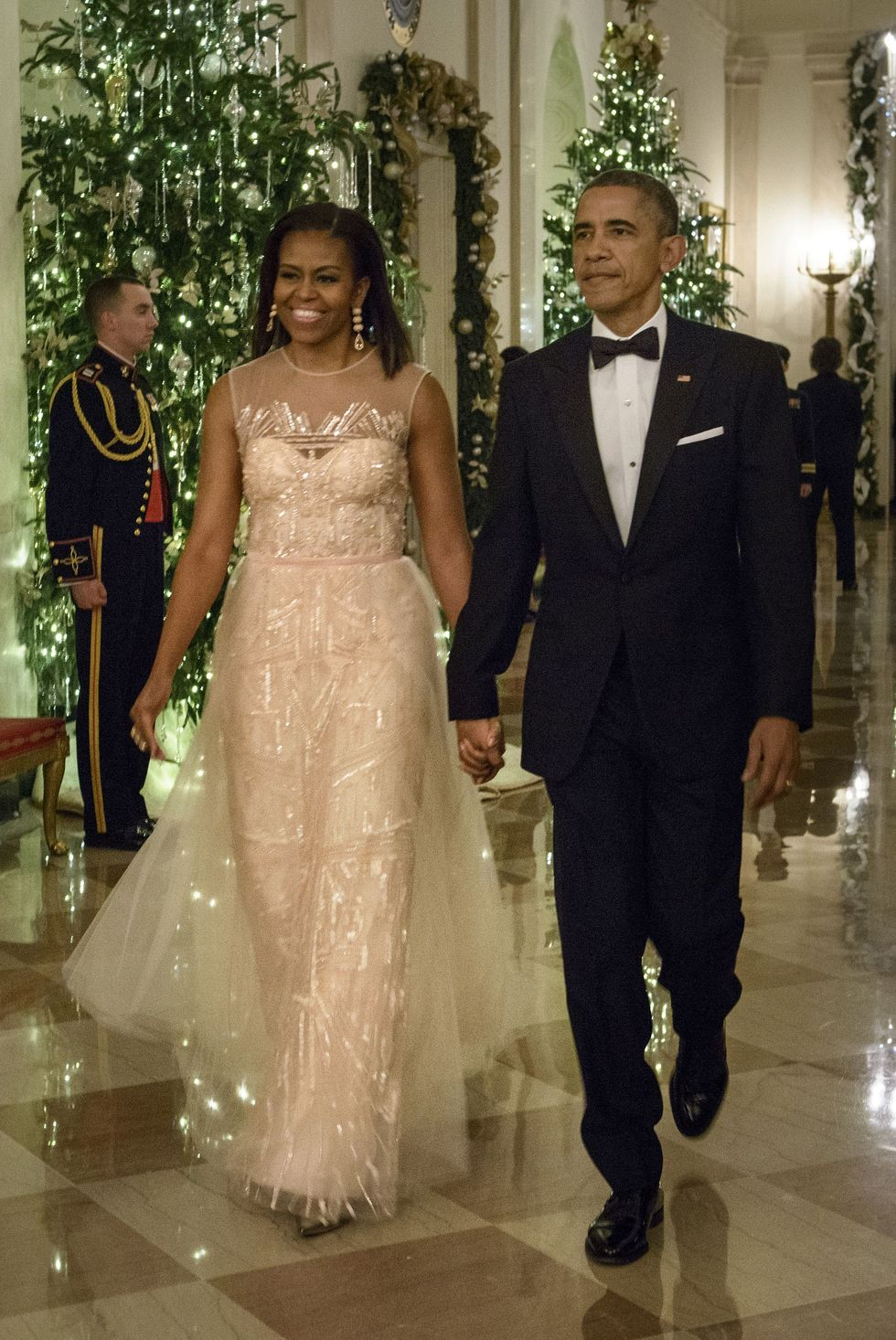 michelle obama monique lhuiiller dress