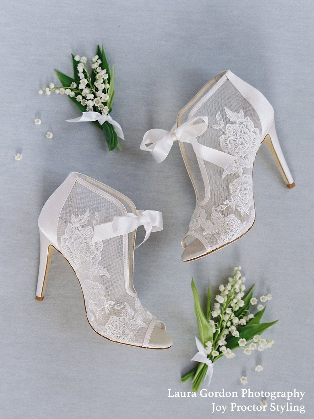 bella belle nikki ivory lace wedding bootie