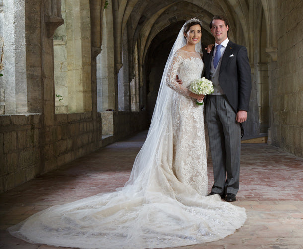 Princess Claire of Luxembourg wedding dress