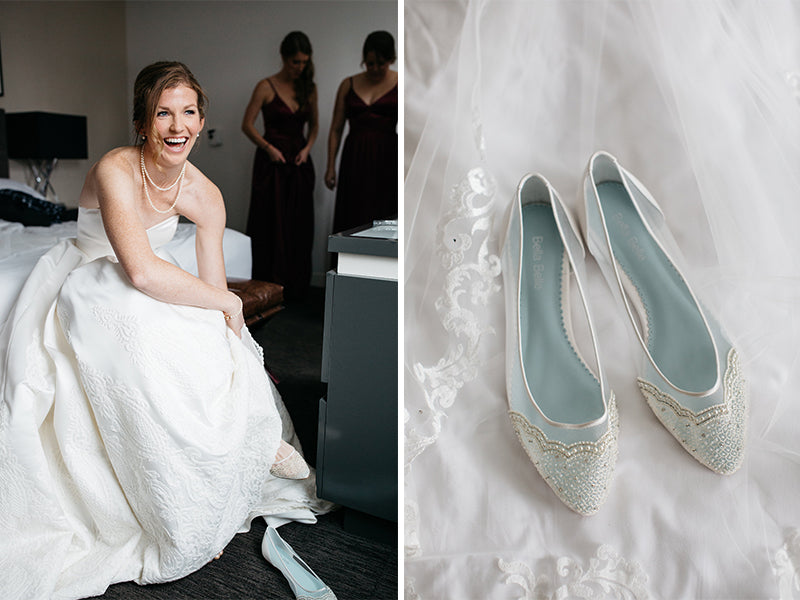 bella belle real bride katie review in hailey wedding flat