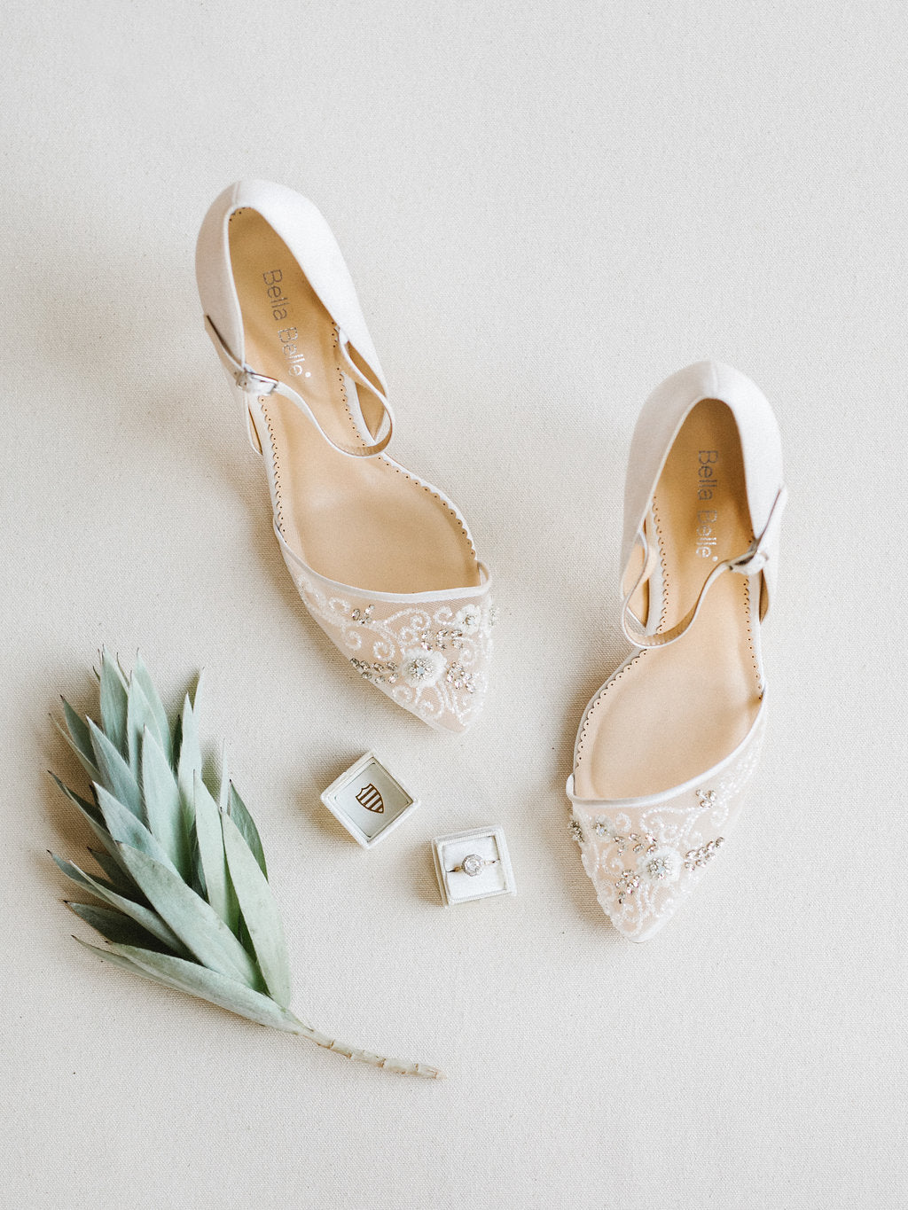 bella belle may ivory beaded wedding pumps
