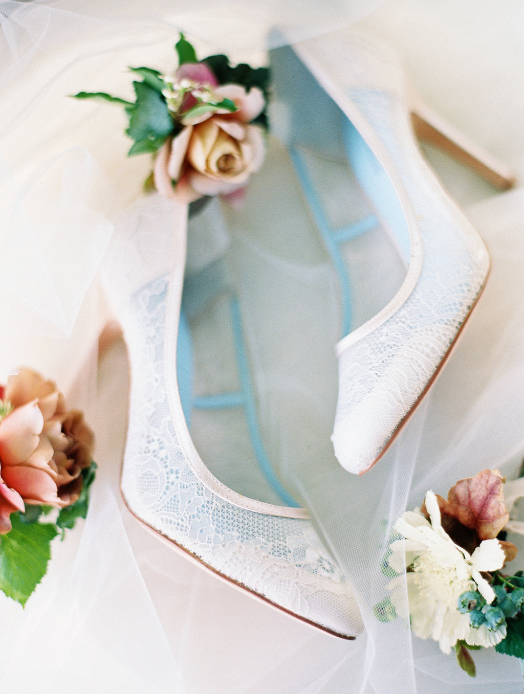 Bella Belle Millie WHITE LACE WEDDING SHOES PUMPS