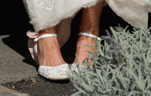 Princess Claire of Luxembourg wedding shoe